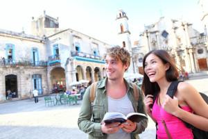 Tourists in Cuba