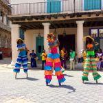 Cuban stilt dancers