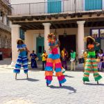 Cuban stilt dancers